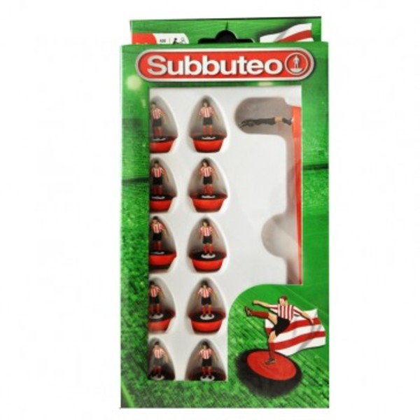 Large player red and white team subbuteo table top football