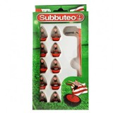 Small player red and white team subbuteo table top football