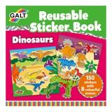 Small galt reusable sticker book dinosaurs