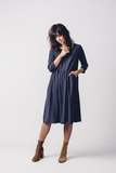 Small maritxu navy dress skfk
