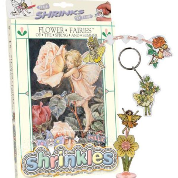 Large flower fairy fairies spring summer shrinkles shrinkies shrinks heat in oven colour in colouring