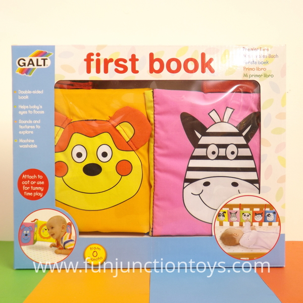Large glt b galt first book baby soft play cot runner tummy time from birth  w