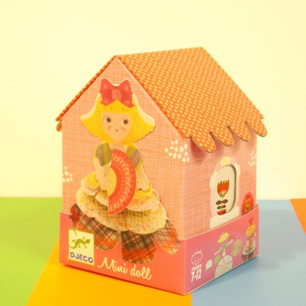 Large dj c mini doll kit pink house