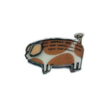 Small pig brooch