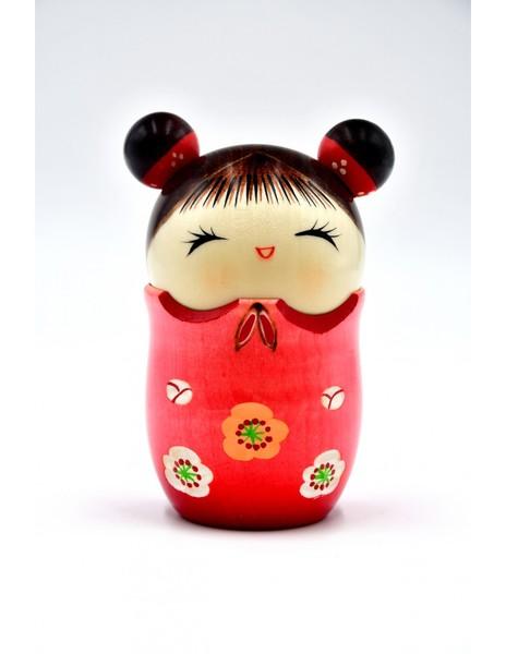 Large kokeshi doll memories red omoide