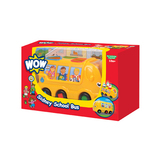Small wow toys sidney school bus shape sorter plastic friction powered no batteries toddler preschool car