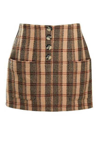 Large nywsk29 meghan check skirt