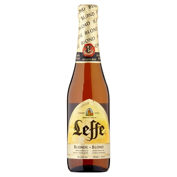 Large leffe blonde beer 330ml