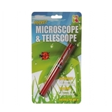 Small pocket microscope and   telescope keycraft science pocket money pen toy