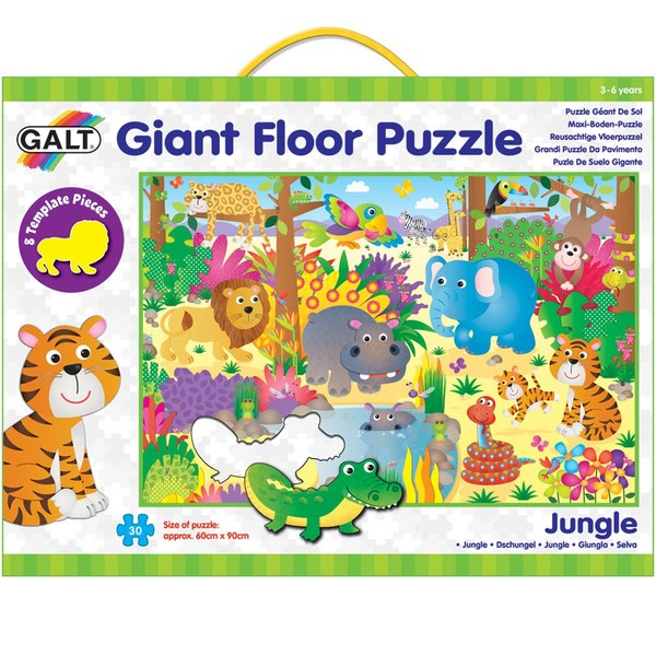 Large fun junction independent toy shop crieff perth perthshire scotland galt giant floor puzzle jungle talkabout template pieces