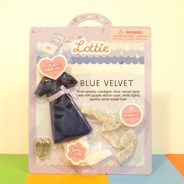 Large mbl lt blue velvet