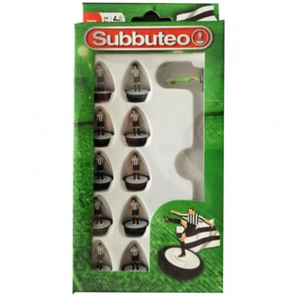 Large player black and white team subbuteo table top football