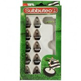 Small player black and white team subbuteo table top football