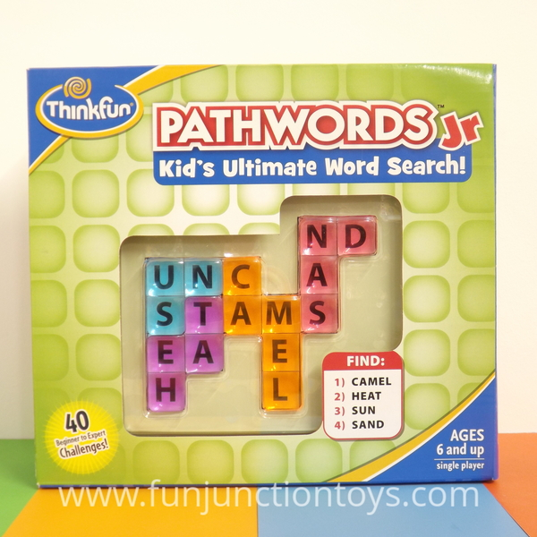 Large pld tf pathwords jr thinkfun wordsearch single player solitaire game for children aged 6 years and up w