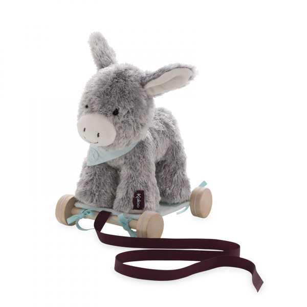 Large kaloo fun junction toy shop perth crieff perthshire scotland les amis pull along donkey plush soft toy teddy cuddly 4895029629914
