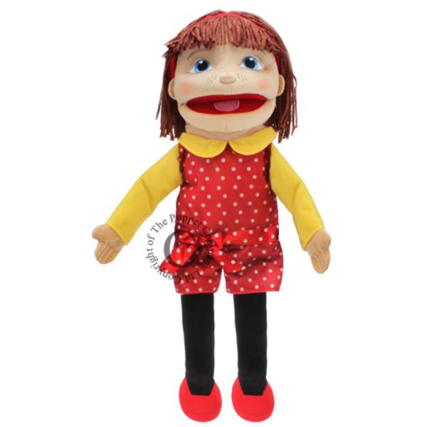 Large puppet company medium girl light skin