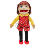 Small puppet company medium girl light skin