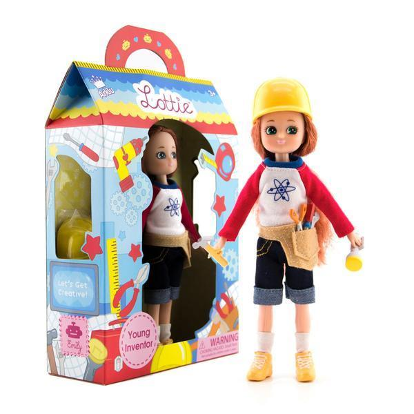 Large lottie doll young inventor