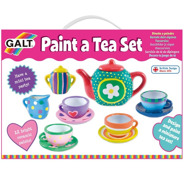 Large fun junction independent toy shop creiff perth perthshire scotland galt paint a tea set ceramic make your own design customise for kids