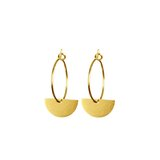 Small 1866 gold semi circle hoop earrings 1024x1024