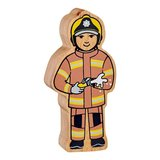 Small lanka kade wooden figure firefighter