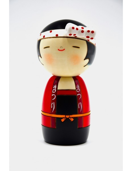 Large kokeshi doll partygirl wasshoi girl