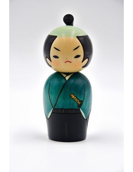 Large kokeshi doll samurai