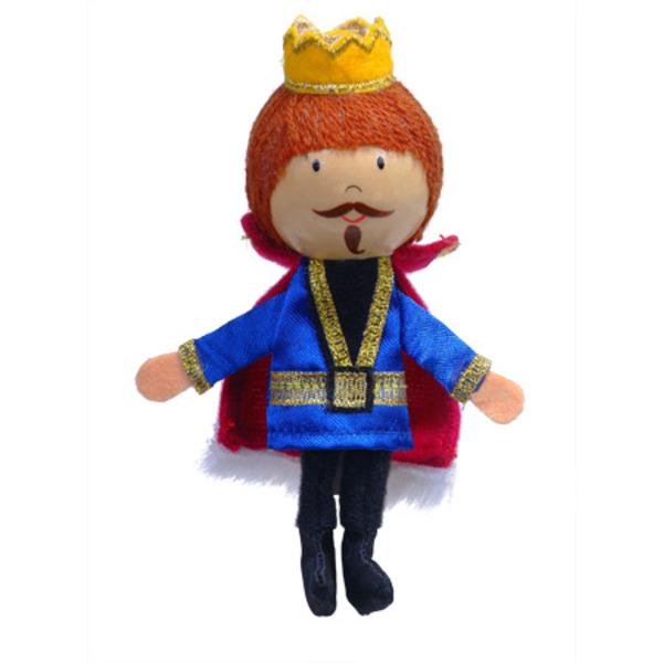 Large fiesta crafts king wooden headed finger puppet
