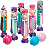 Small wooden skittles fairytale fairy tale colourful bowling lanka kade fair trade toy toys wooden wood natural fun junction toy shop stop store crieff perth perthshire scotland 2