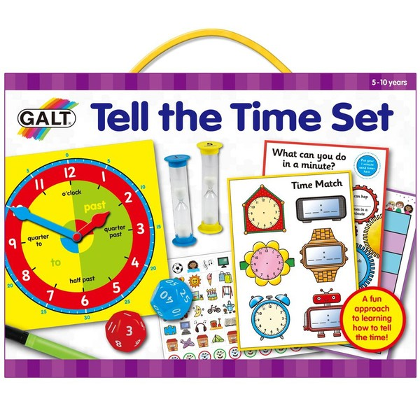 Large fun junction independent toy shop crieff perth perthshire scotland galt tell the time set early school sand timers clocks board hourglass games