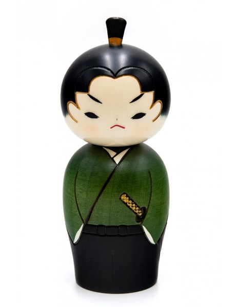 Large kokeshi doll young samurai