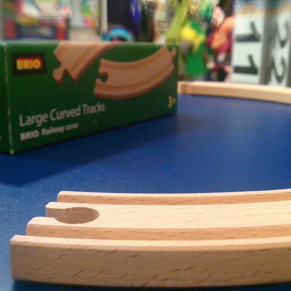 Large large curved tracks brio wooden railway
