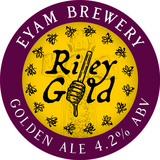 Small riley gold 100mm roundel