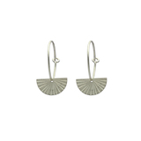 Small 1963 silver fan earrings
